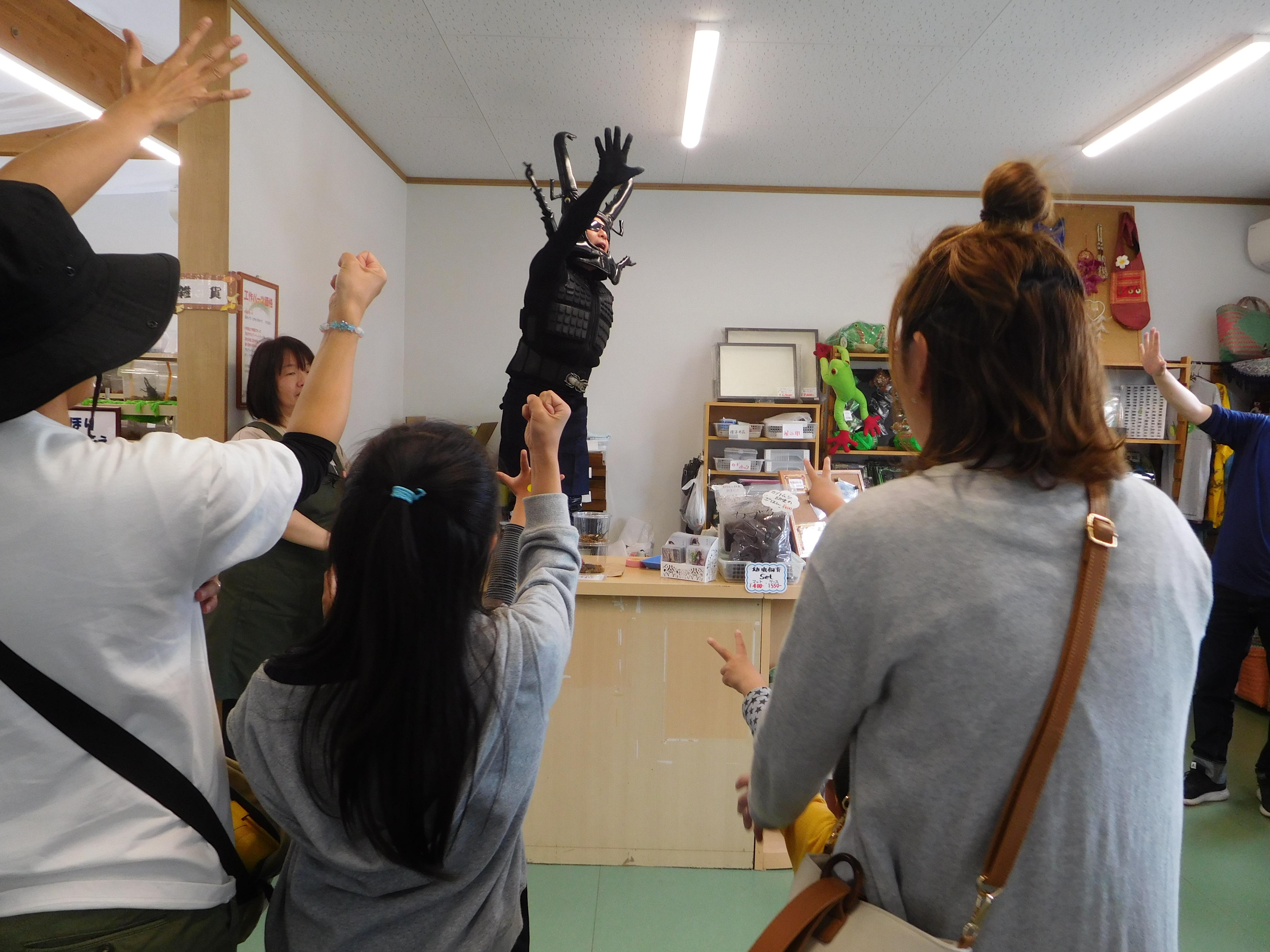 クワガタマン登場!
